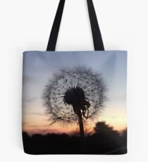 Sunset Dandelion Tote Bag