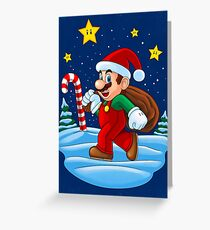 Mario Xmas Greeting Card