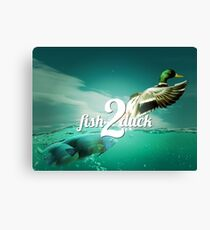 fish2duck in full colour glory Canvas Print