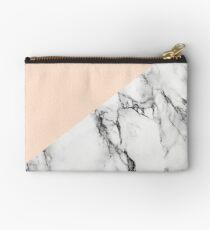 Blush with Marble Studio Pouch