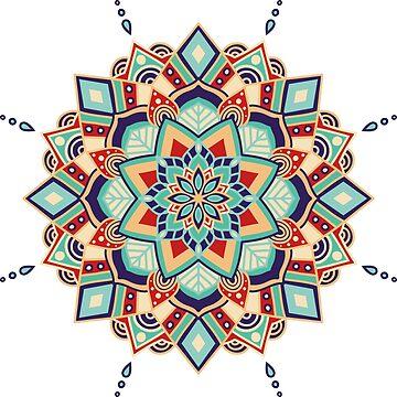 Ornate floral mandala by dasha-d