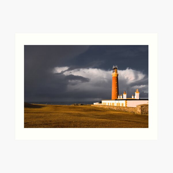Storm at the Butt of Lewis Art Print