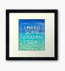 Vitamin Sea Framed Print