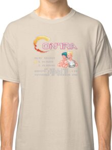 Contra (NES) Title Screen Classic T-Shirt