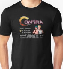 Contra (NES) Title Screen Unisex T-Shirt