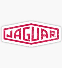 Pegatina Jaguar Heritage Distressed Logotipo