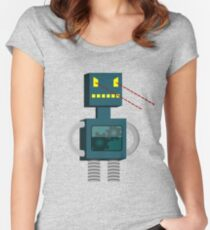 Angry Robot Laser Fun T-Shirt Women's Fitted Scoop T-Shirt