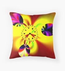 Time in Fractal Universe Throw Pillow