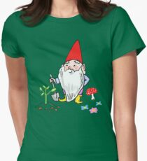Spring Garden Gnomes with Flowers and Bunny Rabbits T-Shirt