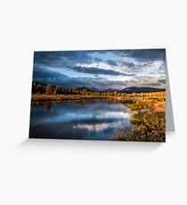 Tuolumne River Late Afternoon Greeting Card