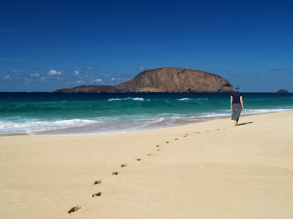 Beach combing by David Odd