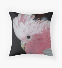 Do you like my hair do! - Rose-Breasted Cockatoo - New Zealand Throw Pillow