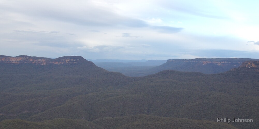 Valley View - Blue Mountains World Heritage Area, Australia by Philip Johnson