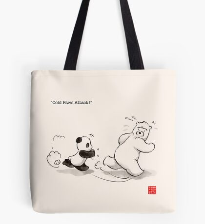 Cold Paws Attack Tote Bag
