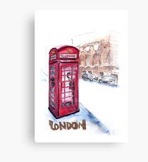 Telephone booth - London, UK Canvas Print