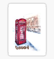 Telephone booth - London, UK Sticker