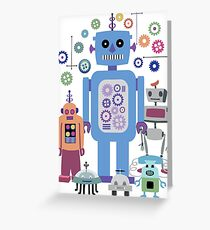 Retro Robots for Sci-fi Nerds and Geeks Greeting Card
