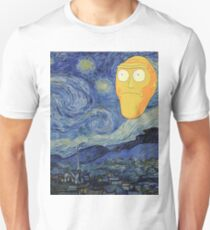 Starry Night Rick and morty T-Shirt