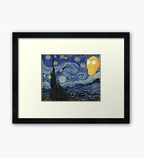 Starry Night Rick and morty Framed Print