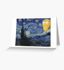 Starry Night Rick and morty Greeting Card