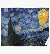 Starry Night Rick and morty Poster