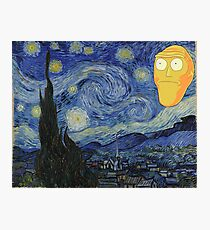 Starry Night Rick and morty Photographic Print