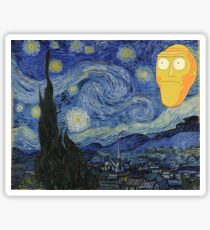 Starry Night Rick and morty Sticker