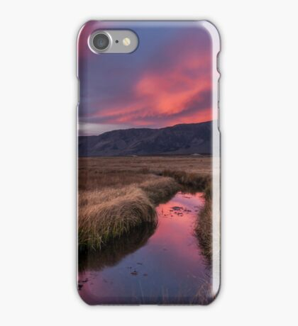 Upper Owens River Sunset iPhone Case/Skin