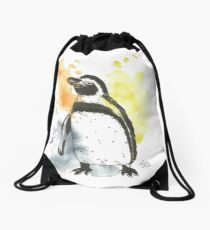 Pinguin - Aquarell Drawstring Bag