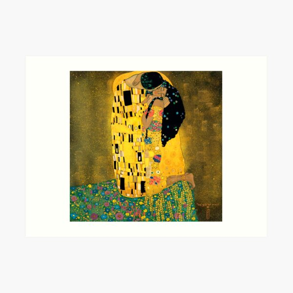 Curly Klimt Art Print