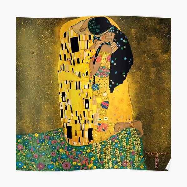 Curly Klimt Poster
