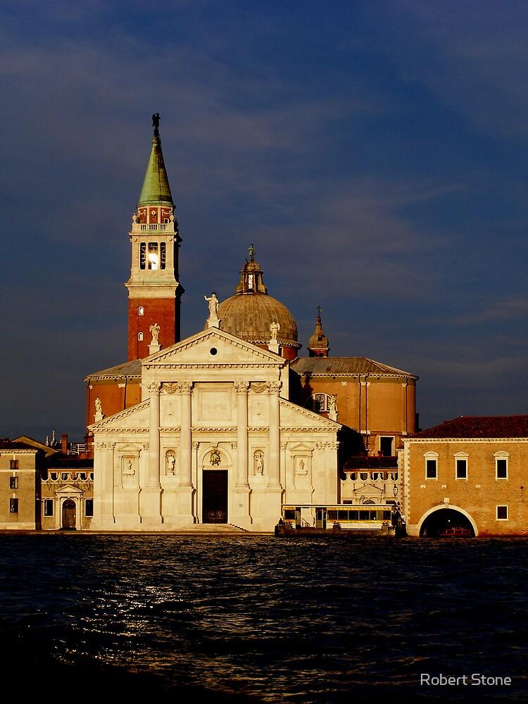 San Giorgio Maggiore Island, Venice at sunset by Robert Stone