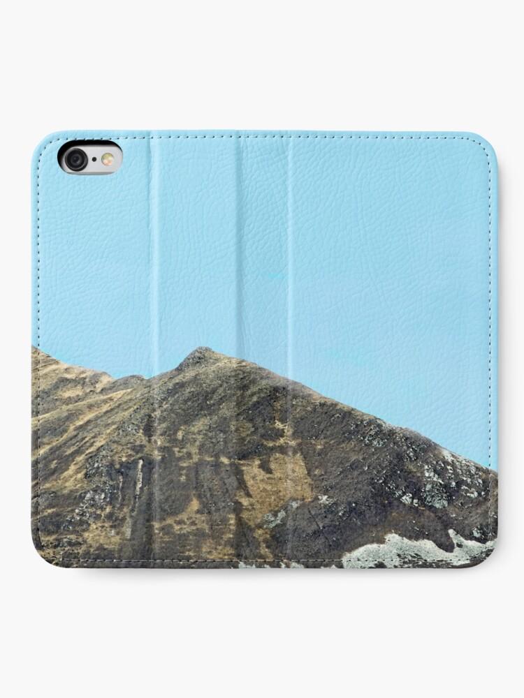 Alternate view of Mountain speaks no  words iPhone Wallet