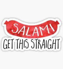 SALAMI get this straight - pun Sticker