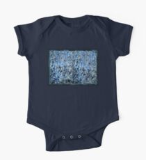 marbled paper - ink blue sea One Piece - Short Sleeve