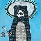 Black Bear With Halo by Madara Mason