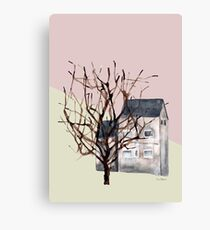 Small houses and trees - Edinburgh, Scotland  Canvas Print