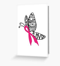 Breast Cancer Butterfly Greeting Card