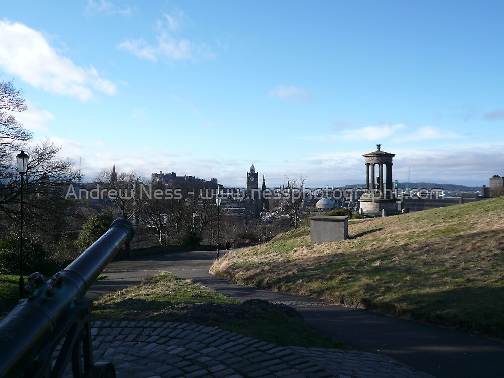 Edinburgh from Calton Hill Cannon by Andrew Ness - www.nessphotography.com