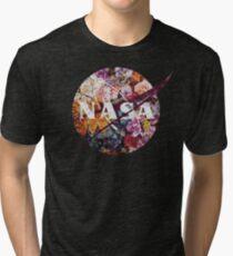 Das Weinlese-Blumen-Emblem der NASAs Vintage T-Shirt