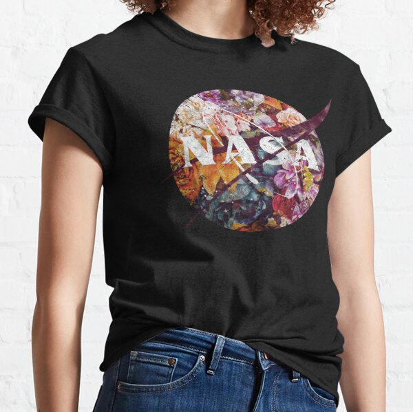 NASA Vintage Flowers Emblem Classic T-Shirt