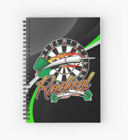 Radical Darts Shirt Spiral Notebook