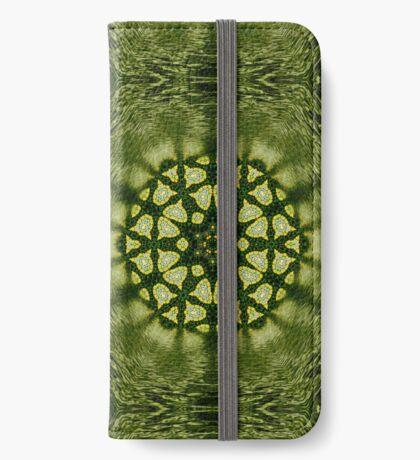 Liquid Green Hexagon Geometry iPhone Wallet