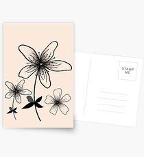 Flowers Designs  Postcards