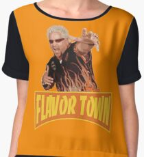 FLAVOR TOWN USA - GUY FlERl Women's Chiffon Top