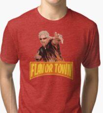 FLAVOR TOWN USA - GUY FlERl Tri-blend T-Shirt