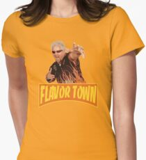 FLAVOR TOWN USA - GUY FlERl Womens Fitted T-Shirt