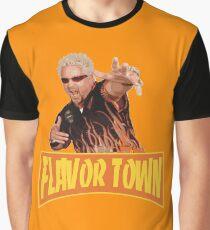 FLAVOR TOWN USA - GUY FlERl Graphic T-Shirt