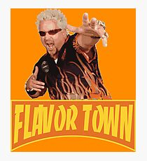 FLAVOR TOWN USA - GUY FlERl Photographic Print