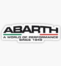 Abarth, a world of performance (black) Sticker